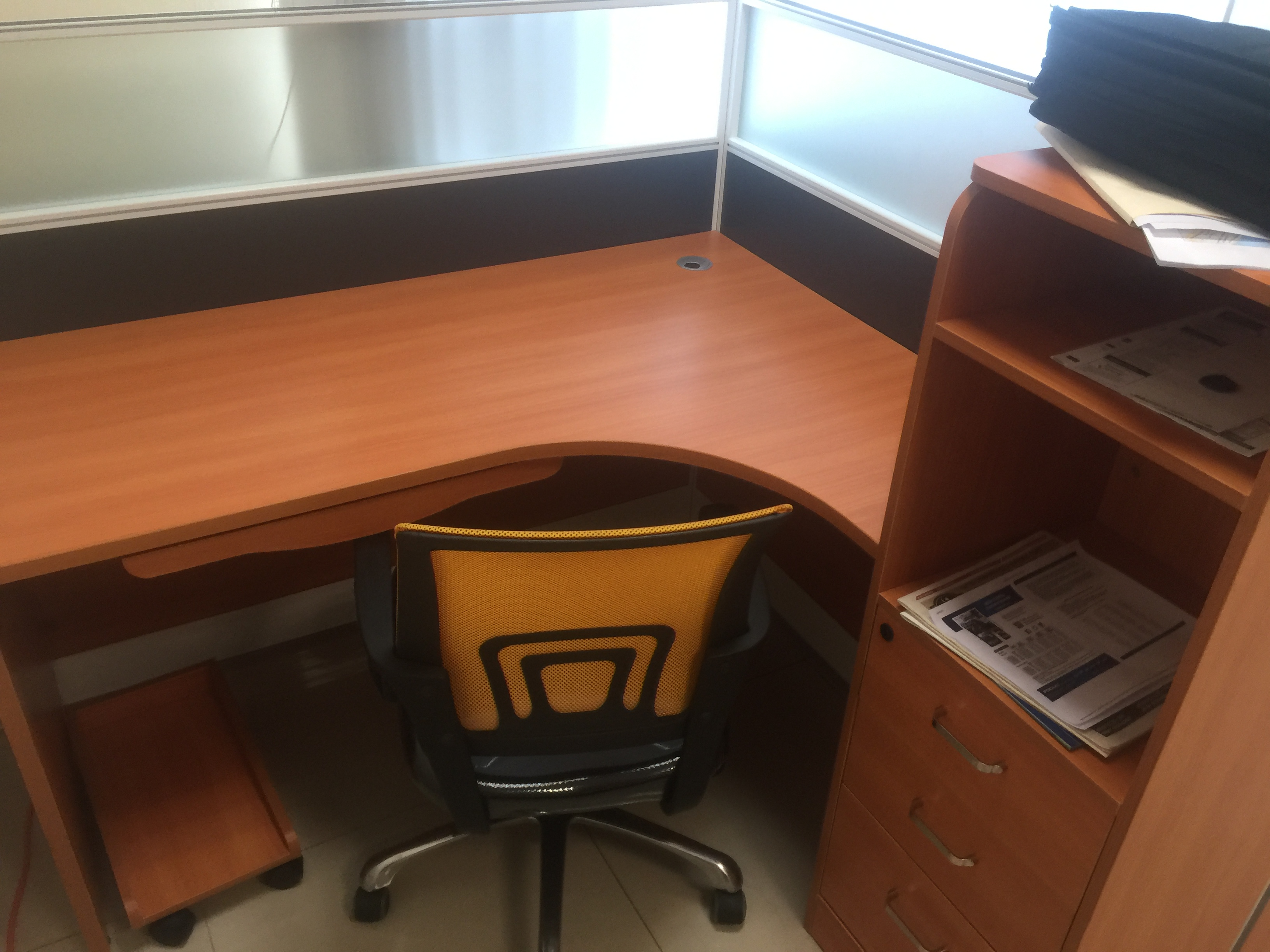 Three Cubical Desks and Chairs - $400
